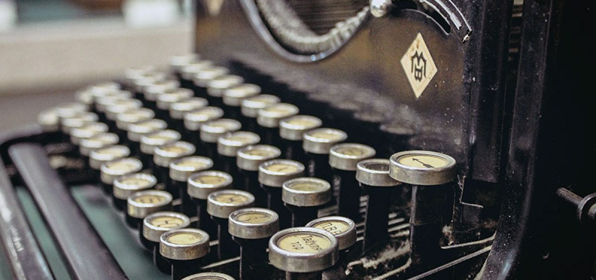 How to use this website featured image of an old typewriter