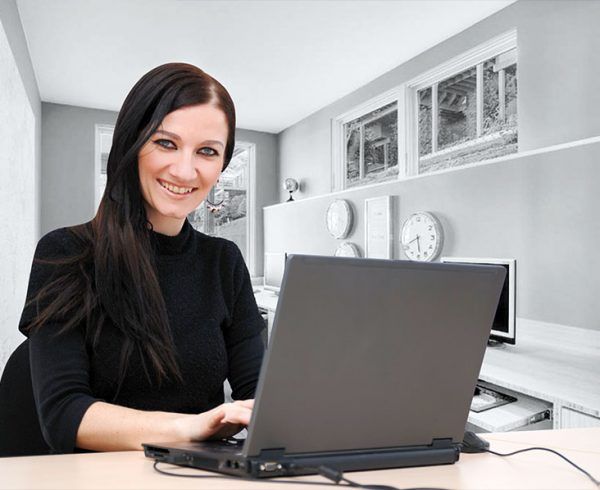 How To Add Content To The Mals Website featured image, girl on a laptop smailing